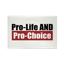Pro-Life Pro-Choice Rectangle Magnet