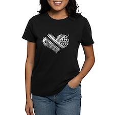 keffiyeh_love_blackonblack T-Shirt