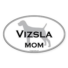 Vizsla MOM Oval Decal