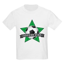 Green Soccer Star Stitched T-Shirt