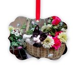 Kitten in a Basket Picture Ornament
