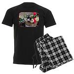 Kitten in a Basket Men's Dark Pajamas