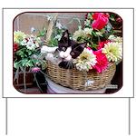 Kitten in a Basket Yard Sign