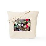Kitten in a Basket Tote Bag