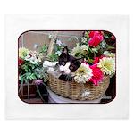 Kitten in a Basket King Duvet