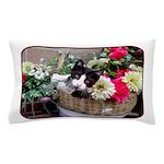 Kitten in a Basket Pillow Case