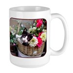 Kitten in a Basket Large Mug