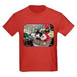 Kitten in a Basket Kids Dark T-Shirt