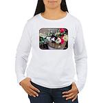 Kitten in a Basket Women's Long Sleeve T-Shirt