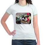Kitten in a Basket Jr. Ringer T-Shirt