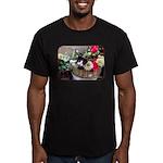 Kitten in a Basket Men's Fitted T-Shirt (dark)