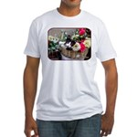 Kitten in a Basket Fitted T-Shirt