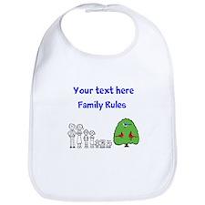 Cute Customizable Family Design Bib