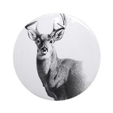 Whitetail Ornament (Round)