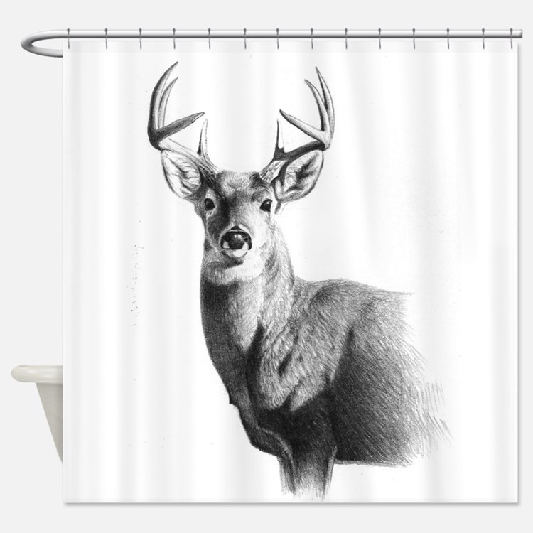 Whitetail Shower Curtains Whitetail Fabric Shower Curtain Liner