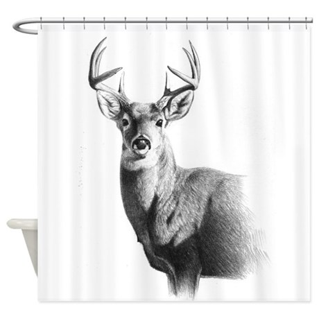 Nice Whitetail Shower Curtain