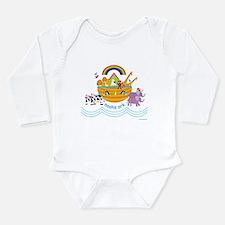 Noah's Ark Animal Long Sleeve Infant Bodysuit
