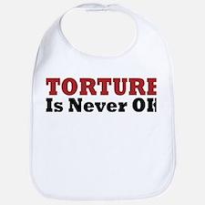 Torture Is Never OK Bib