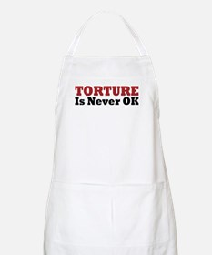 Torture Is Never OK BBQ Apron