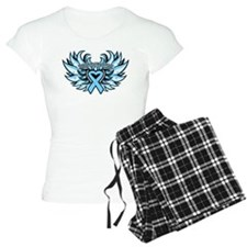 Prostate Cancer Heart Wings Pajamas