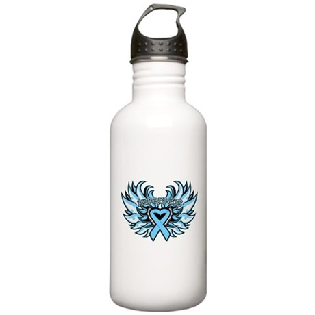 Prostate Cancer Heart Wings Stainless Water Bottle