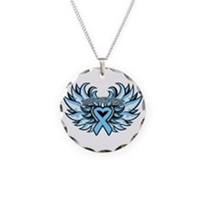 Prostate Cancer Heart Wings Necklace