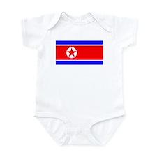 North Korean Blank Flag Infant Creeper
