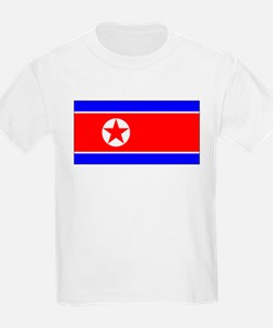 North Korean Blank Flag Kids T-Shirt