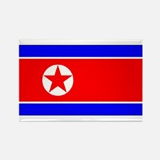 North Korean Blank Flag Rectangle Magnet