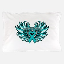 Peritoneal Cancer Heart Wings Pillow Case