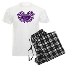Pancreatic Cancer Heart Wings Pajamas