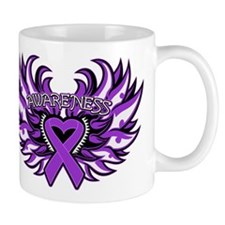 Pancreatic Cancer Heart Wings Mug