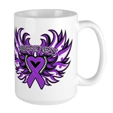 Pancreatic Cancer Heart Wings Mug
