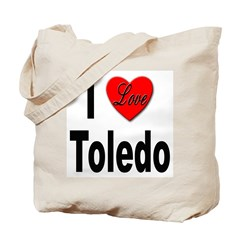 I Love Toledo Ohio Tote Bag