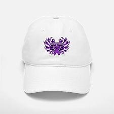 Pancreatic Cancer Heart Wings Baseball Baseball Cap