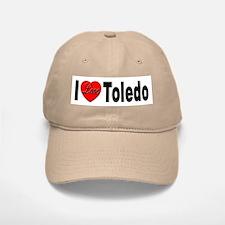 I Love Toledo Ohio Baseball Baseball Cap