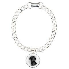 Chocolate Lab Charm Bracelet, One Charm