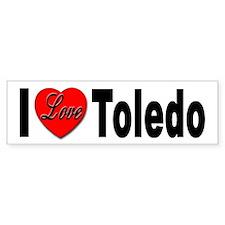 I Love Toledo Ohio Bumper Bumper Sticker