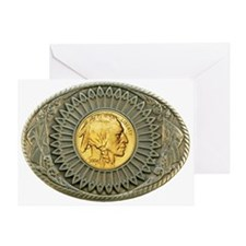 Indian gold oval 2 Greeting Card