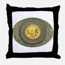 Indian gold oval 2 Throw Pillow