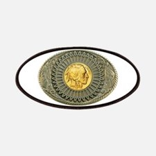 Indian gold oval 2 Patches