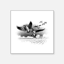 """Canadian Geese Square Sticker 3"""" x 3"""""""