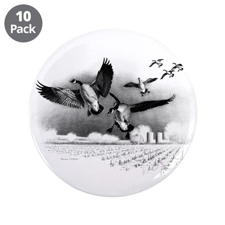 "Canadian Geese 3.5"" Button (10 pack)"