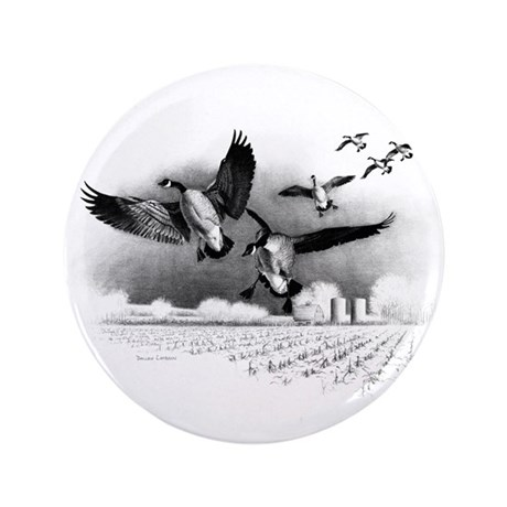 "Canadian Geese 3.5"" Button"