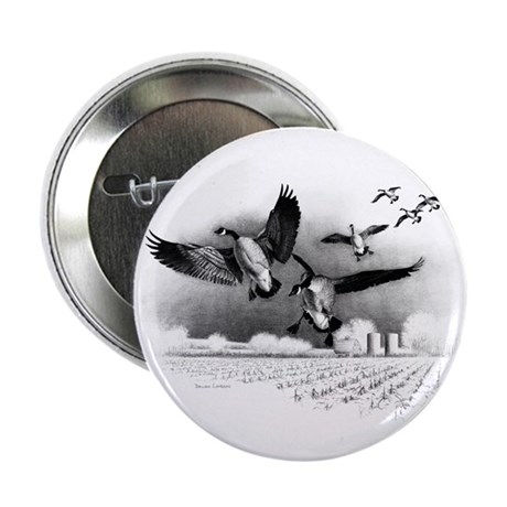 """Canadian Geese 2.25"""" Button"""