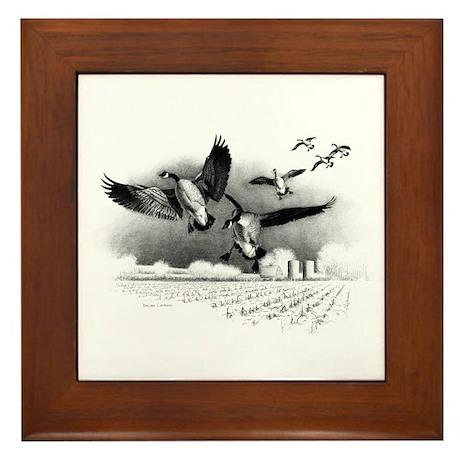 Canadian Geese Framed Tile
