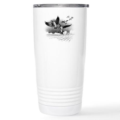 Canadian Geese Stainless Steel Travel Mug