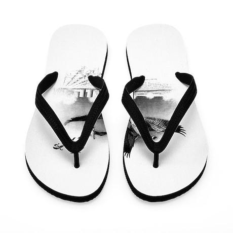Canadian Geese Flip Flops