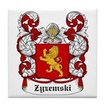 Zyzemski Coat of Arms Tile Coaster