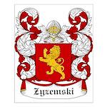 Zyzemski Coat of Arms Small Poster